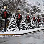 wellsboro main street in snow