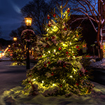 mia anderson photo of wellsboro christmas boulevard at night