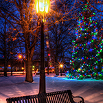 wellsboro green at Christmas photo